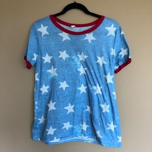 Pinkblush maternity acid wash Americana tee shirt